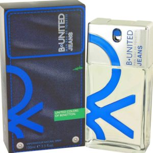 B United Jeans by Benetton Eau De Toilette Spray 100ml for Men