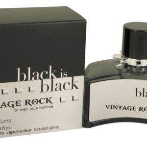 Black is Black Vintage Rock by Nu Parfums Eau De Toilette Spray 100ml for Men