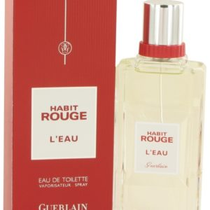 Guerlain Habit Rouge L'eau for men  (100 ML / 3.4 FL OZ)