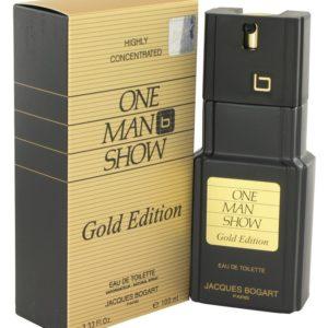 One Man Show Gold by Jacques Bogart Eau De Toilette Spray 100ml for Men