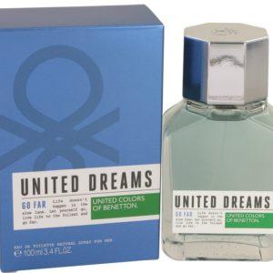 United Dreams Go Far by Benetton Eau De Toilette Spray 100ml for Men